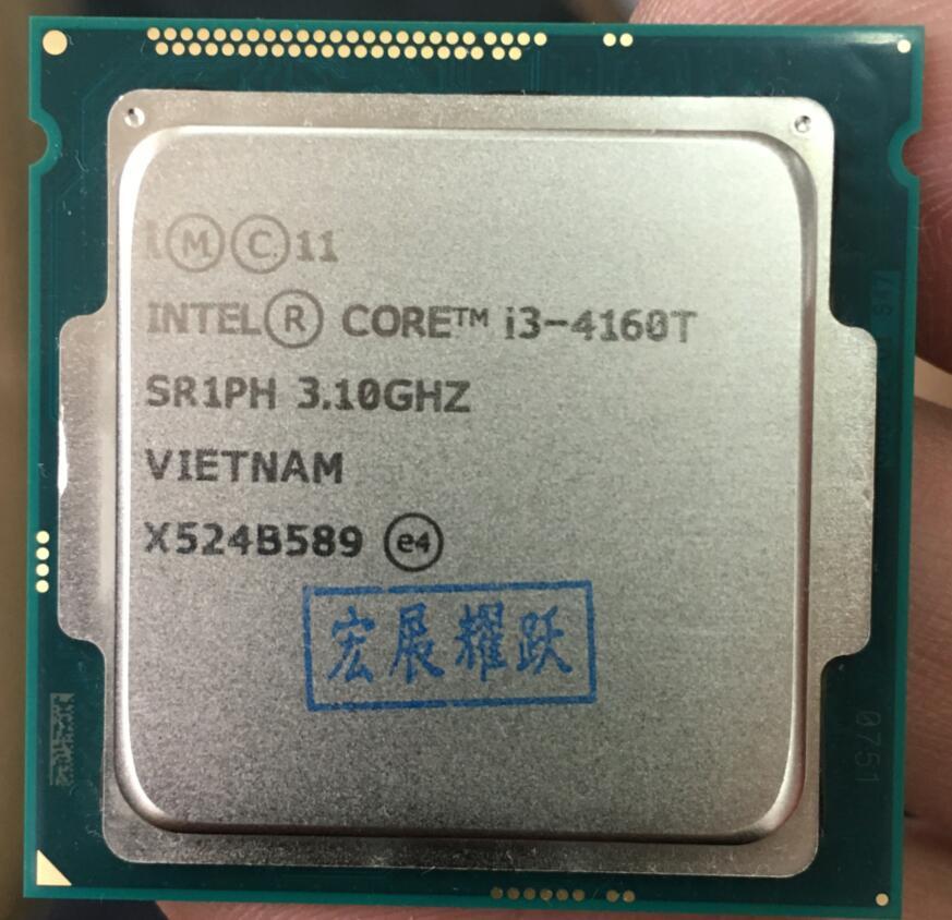 Intel Core Processeur I3 4160 t I3-4160T LGA1150 22 nanomètres Dual-Core 100% fonctionne correctement De Bureau Processeur