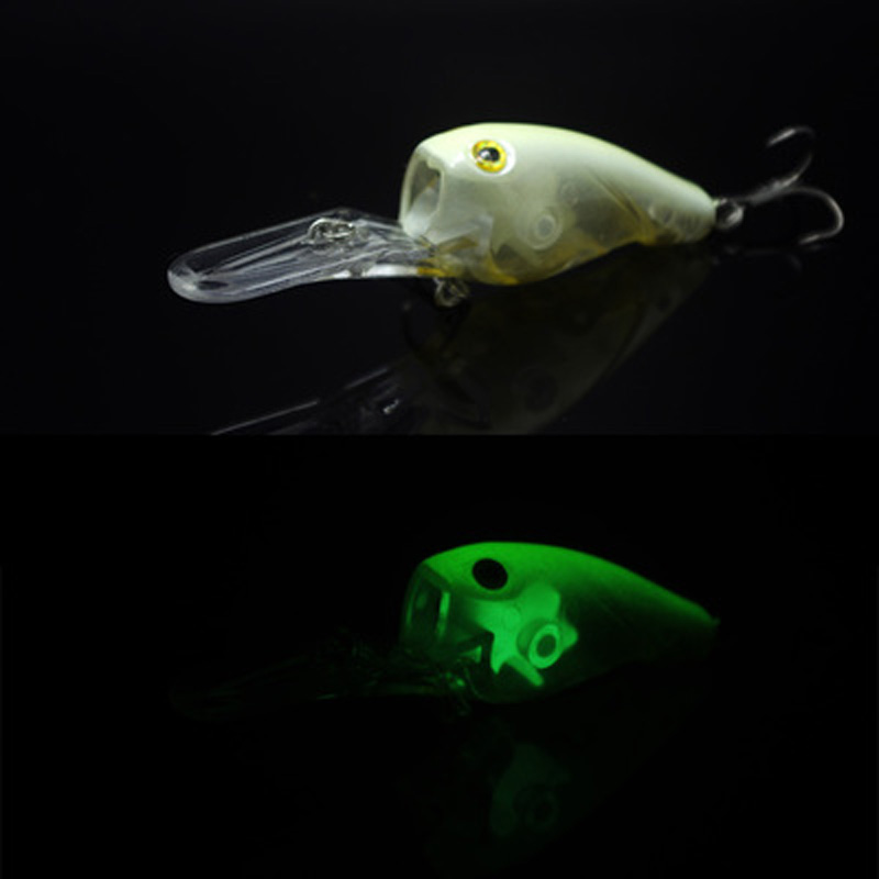 Fishing Long Shot Glow Lure Crank Bait 95mm 11g Deep Dive Plate - Pesca - Fotografia 1