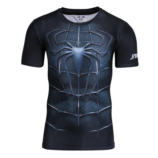 Venta caliente Superhero Medias de Manga Corta de Impresión 3D Camiseta de Los Hombres Más El Tamaño de Los Hombres de Verano Crossfit BreathableTops Sudor Camisetas