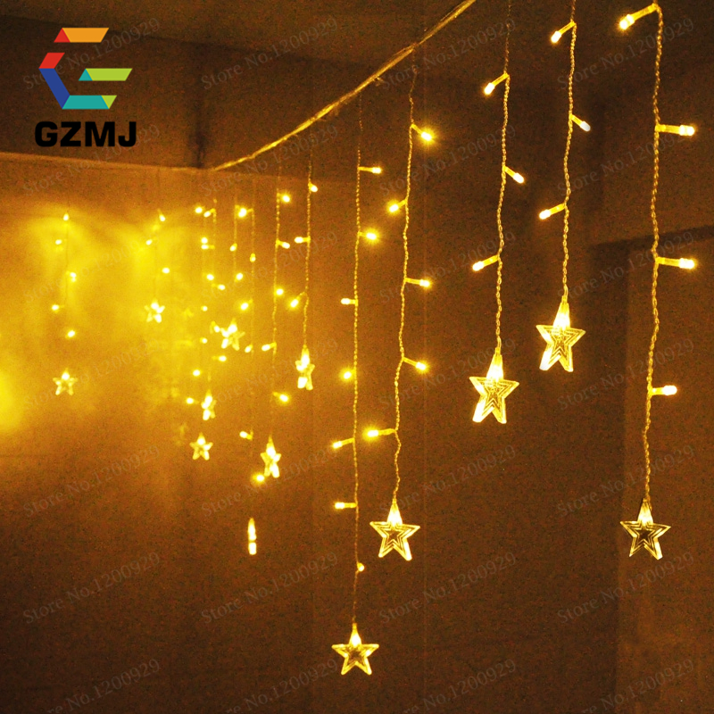 3.5M or 5M Icicle String Lights Christmas Xmas Fairy Lights Outdoor Home for Wedding/Party/Curtain/Garden Decoration