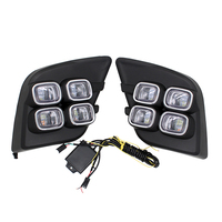 Free Shipping 12V 6000k LED DRL Daytime Running Light With Turn Signal For Toyota Hilux Revo
