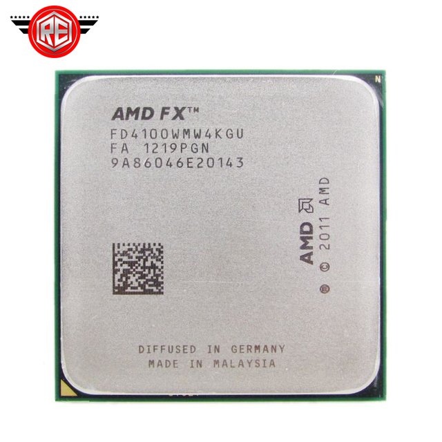 AMD FX 4100 AM3+ 3.6GHz 8MB CPU processor FX serial shipping free scrattered pieces FX-4100