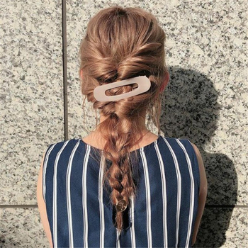 1PC Korea Fashion Large Bathroom Hair Clips Solid Color Shiny Duckbill Side Clip Women Girls Hair Accessories women girls japanese style side hair clip water drop shape duckbill hairgrips colored marble textured printed hair accessories