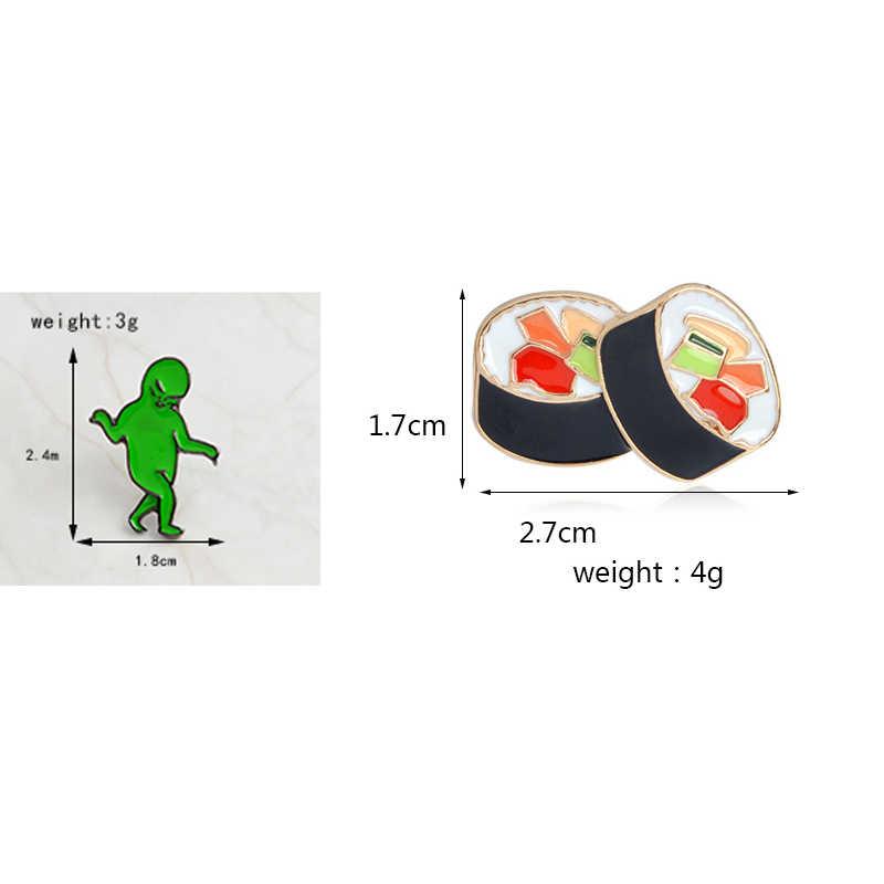 Горячая коллекция! Сыр банан суши еда зеленый ET чужой игры над геймпад мягкой эмалью нагрудные булавки джинсовая рубашка значок