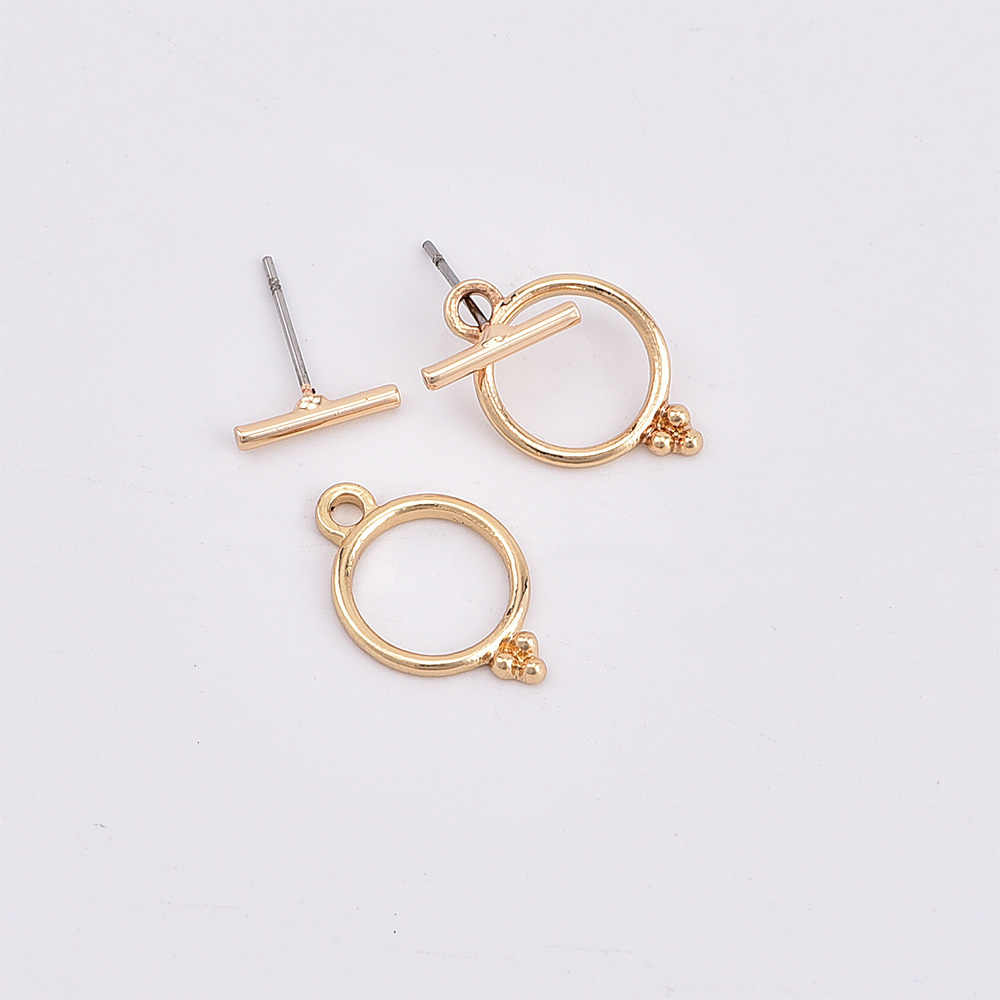 2018 New Hot Sale Earrings Fashion Jewelry Simple Bar Round Stud For Women Girl Nice Gift Oorbellen Bijouterias