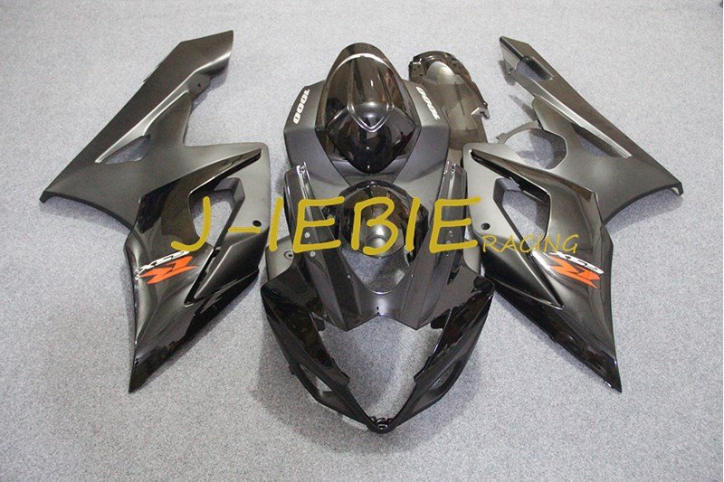 Black Injection Fairing Body Work Frame Kit for SUZUKI GSXR 1000 GSXR1000 K5 2005 2006