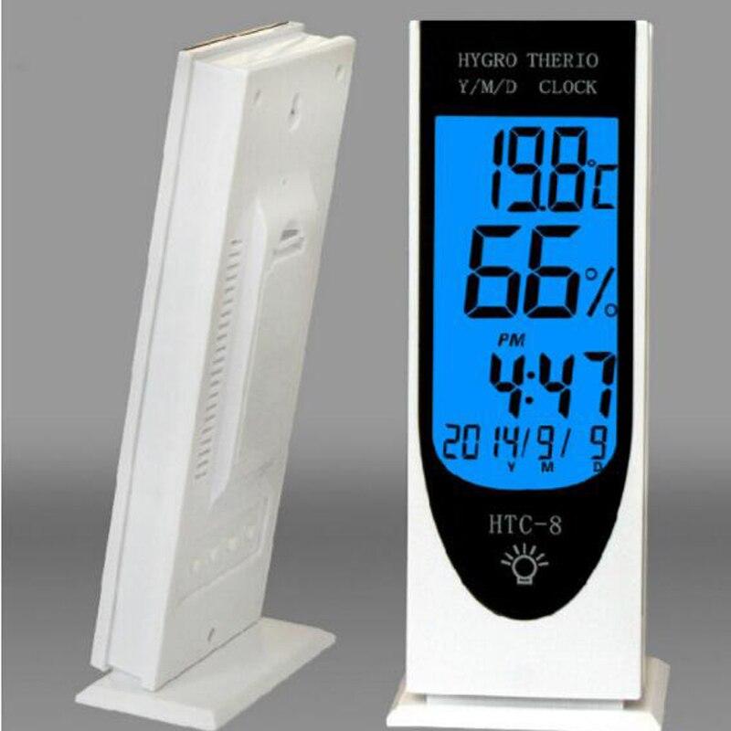 New Luminous Lcd Digital LED Night Light Thermometer Temperature Backlihgt Hygrometer Humidity Meter Alarm Date Clock Calendar