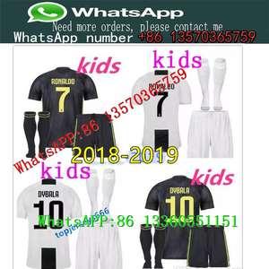 a4c402452 18 19 Juventus RONALDO DYBALA HIGUAIN kids kit soccer SHIRT 2019 juve  MARCHISIO CHIELLINI BUFFON child Football Shirt uniform