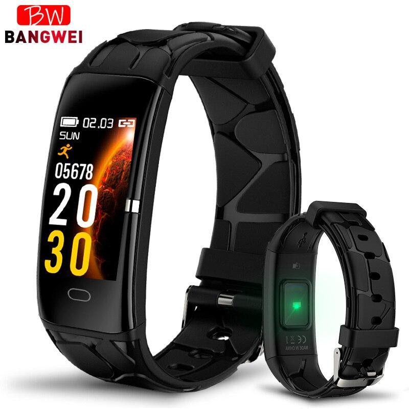Multi-fonction Bracelet intelligent étanche moniteur cardiaque sport pour IPhone téléphone Mobile hommes fonction de surveillance de la pression artérielle