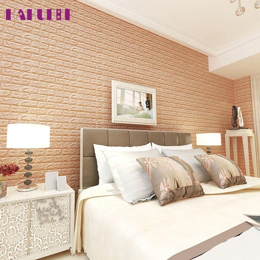 Kakuder Pe Foam 3d Wallpaper Diy Wall Stickers Wall Decor