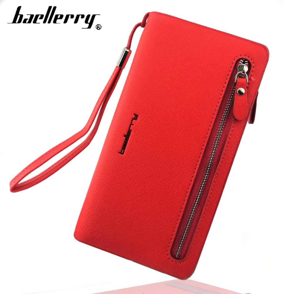 Baellerry Card holder Leather Wallet Women Long Design Quality Passport Cover Casual Women Purse Zipper Multi