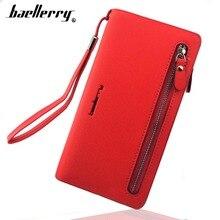 Купить с кэшбэком Baellerry Card holder Women Wallets Leather Long Design Quality Passport Cover Casual Women Purse Zipper Multi-function Wallet