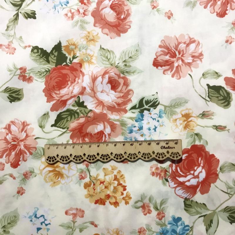 Price per 1//2 metre Shabby Chic Roses 100/% Cotton Fabric