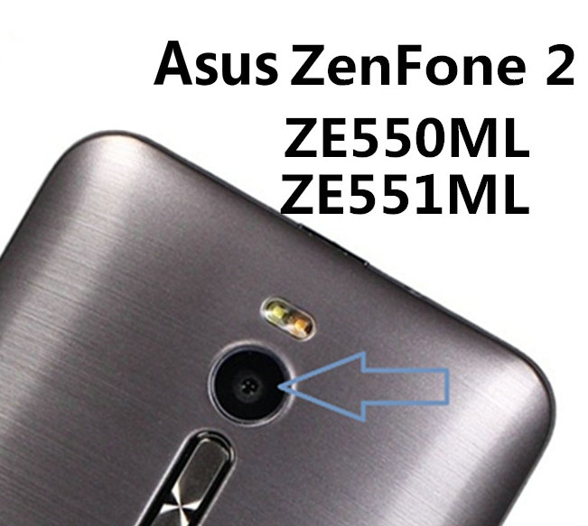 2pcs/lot Coopart New Back Rear Camera Lens Glass Relacement For Asus ZE551ML ZE550ML 4G With Sticker