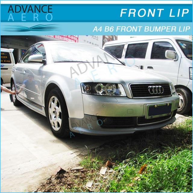 For 02 05 Audi A4 B6 Front Bumper Lip Spoiler Body Kits Pu In