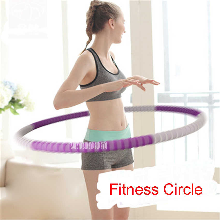PJ-2790 Entertainment Tools 82cm Portable Fitness Removable Weight Loss Hard Pipe Equipment Waist Slimming Fitness Circle 4Color
