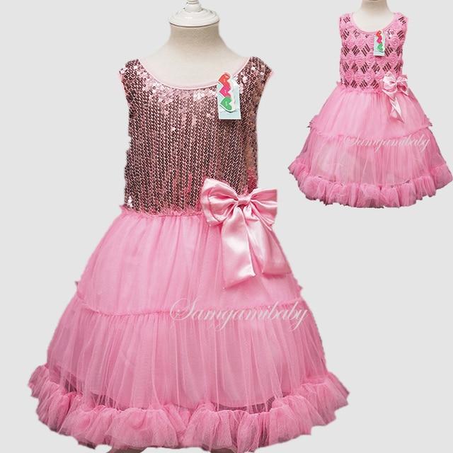 ... Girls princess children s birthday party sequined pink tutu kids girl  dress. Previous  Next 84e73de5a575