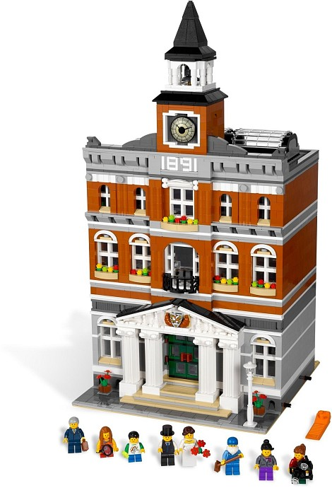 2016 DHL Lepin 15003 2859 PCS City Creator Town Hall Sets Model Building Kits Set Blocks Compatible With 10024 lepin 02012 city deepwater exploration vessel 60095 building blocks policeman toys children compatible with lego gift kid sets