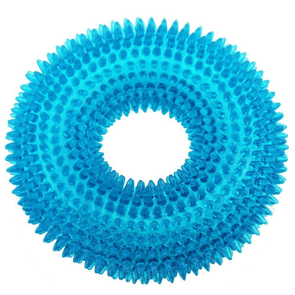 Durable Pet Puppy Dog Squeaky Chew Toys for Aggressive Chewers Dental Teething Cleaning [Non-Toxic Soft Natural Rubber