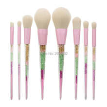 все цены на New 8 Pcs Set Makeup Brushes Rainbow Diamond Handle Make Up Brushes Fiber Brush Set Foundation Eyeshadow Powder Brushes Tool онлайн