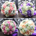 Artificial Bridal Bouquets Bridesmaid Bouquet with Ribbons Bouquet de Mariage Wedding Flowers Buque de Noiva