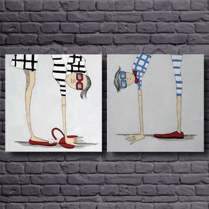 Ručně vyráběné obrazy Karikatura Moderní obrázky na plátně olejomalba pro obývací pokoj Abstraktní obrázek ručně tištěné obrázky