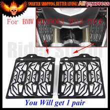 2016 Hot Sale CNC Stainless Steel Black  Motorcycle Radiator Guard Cover Protector For BMW R1200GS 2013 2014 2015 2016 R1200 GS