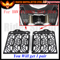2016 La Venta Caliente DEL CNC de Acero Inoxidable Negro de La Motocicleta Protector De Radiador Protector de la cubierta Para BMW R1200GS 2013 2014 2015 2016 R1200 GS
