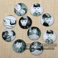 20 unids Ronda Abovedadas Audrey Hepburn Verre Photo Vidrio Cabochon 25mm DIY Vintage Pendiente Pendiente Hallazgos