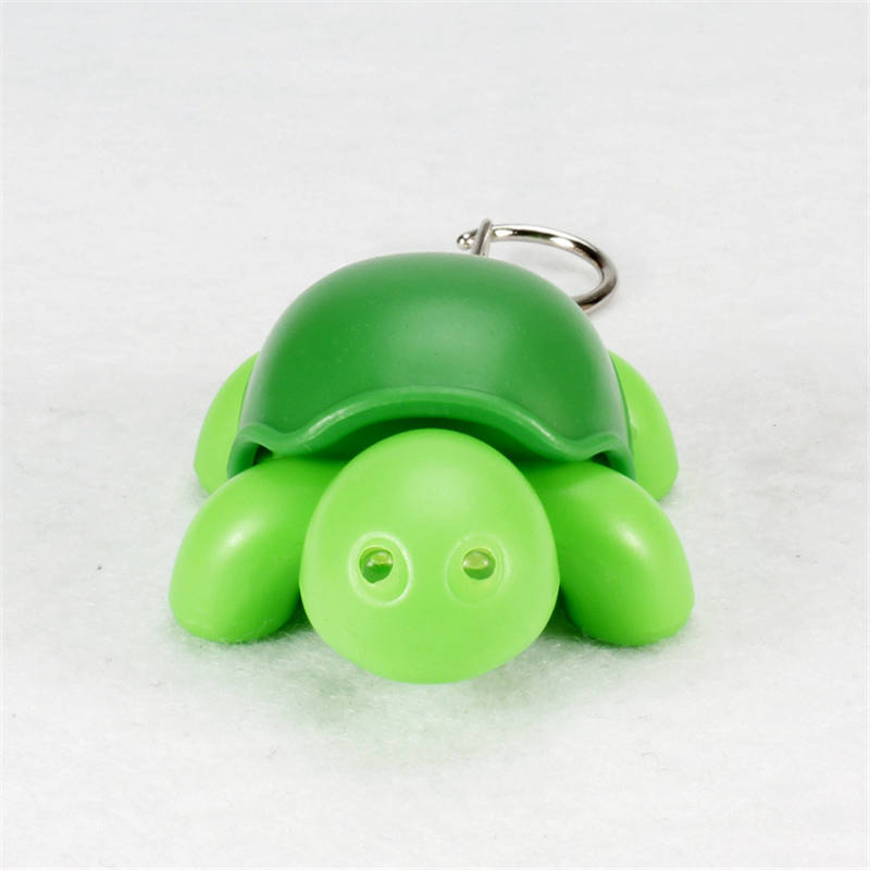 cute cartoon tortoise font b led b font keychains font b flashlight b font sound rings