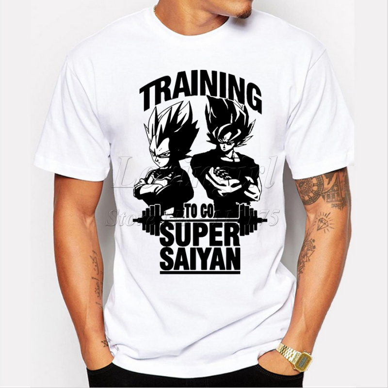 2020 Super Saiyan Design Men's T shirt Dragon Ball Goku Z Vegeta Printed Tees Anime Tops