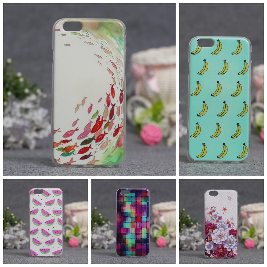 Luxury For iPhone 6S 3D Style Cartoon Flower Zebra Clear Back Cover Soft TPU Case For iPhone 6 Slim Thin Silicone Phone Case