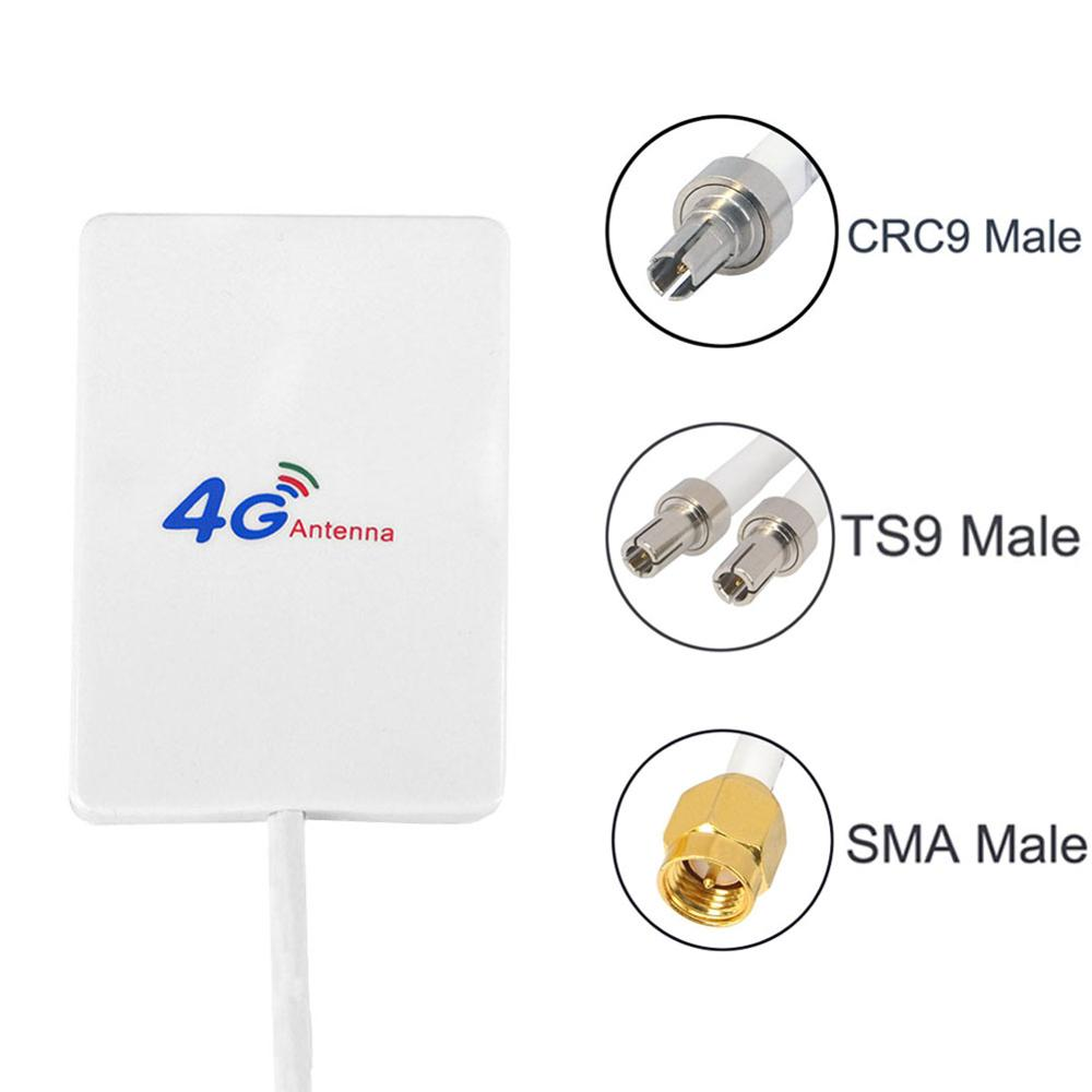 New 4G Antenna 28dBi SMA Male/CRC9/TS9 Aeria For 4G LTE FDD/TDD ROUTER MODEM E3272 E5372 E5573 E3372 B315 B525 B593 B31