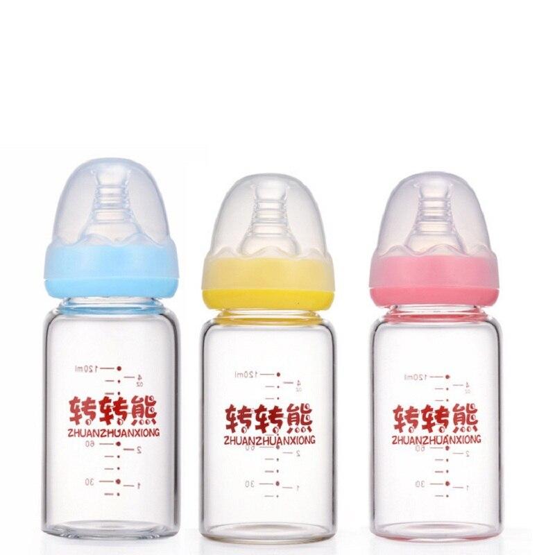 Nachdenklich Drehen Der Bär 8088 Baby Fütterung Flasche Glas Flasche 120 Ml Label Glas Flasche. Kristall Bohrer