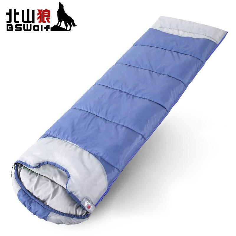 BSWolf 2018 нового образца Открытый спальный мешок взрослых путешествия анти-грязный спальный мешок 190 т полиэстер U Форма Дизайн может быть тепл...