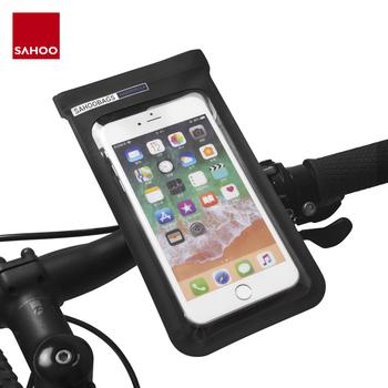 Sahoo 111362-SA uniwersalna pełna wodoodporna rowerowa kierownica rowerowa 6 5in uchwyt do telefonu komórkowego góra etui na telefon sucha torba tanie i dobre opinie Touchscreen