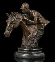 Медь украшения Тонкой Будда Латунь Оптовая Цена Спорт Человек Бронзовая статуя времени исследования Мягкой Команда Конная Статуя