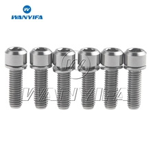 Wanyifa 6pcs Titanium Bolts Screws M5x16 M5x18 M5x20mm With Washer for Bike Bottle Holder
