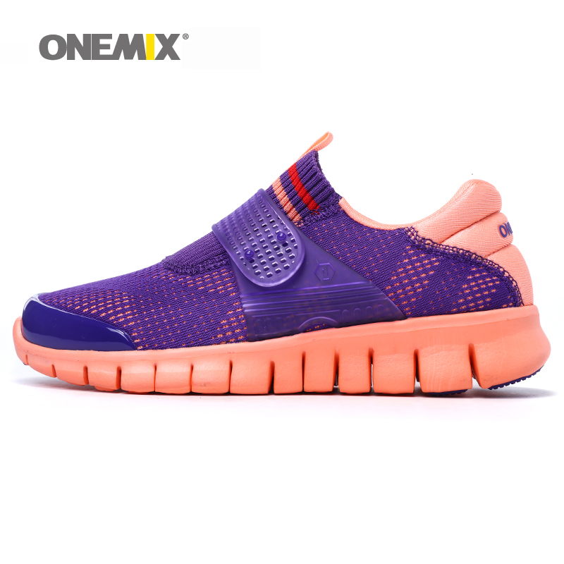 Onemix women sneaker teenage breathable mesh boots damping shoes running one pieces shoes outdoor jogging walking yoga shoes