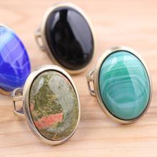 Модные уникальные винтажные кольца с натуральным камнем для женщин, античная бронза, обручальное Ювелирное кольцо anel feminino