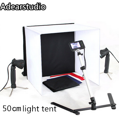 4 Colors Backdrops 50W Halogen Lamps Copy Stand 50cm Photo Studio Photography Square Light Tent kit CD504 Colors Backdrops 50W Halogen Lamps Copy Stand 50cm Photo Studio Photography Square Light Tent kit CD50