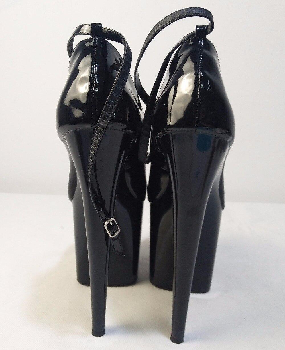 2018 Etapa Un Yardas Las verano Del Nocturno Negro 20 Primavera De Zapatos Club Cm Pulgadas Solo Bombas Altos Mujeres 8 Talones Diseñador Súper Gran Tq51H1Cw