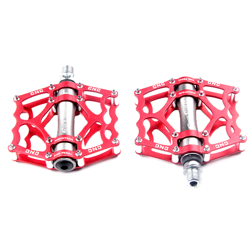 1 Pair Ultralight Aluminum Alloy Cycling Bike Pedals Mountain Road Bike Parts Bearing Pedal Bicycle Accessories Riding Pedal-in Bicycle Pedal from Sports & Entertainment