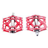 1 par ultraleve liga de alumínio ciclismo pedais da bicicleta montanha estrada peças rolamento pedal acessórios da bicicleta equitação pedal