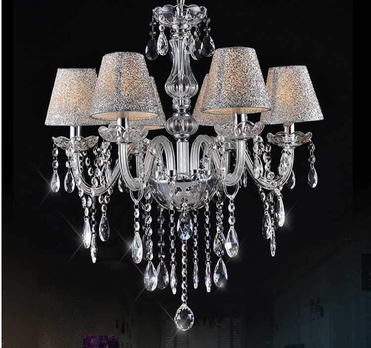 modern chandeliers for bedrooms european transparent chandelier lamp modern 16338