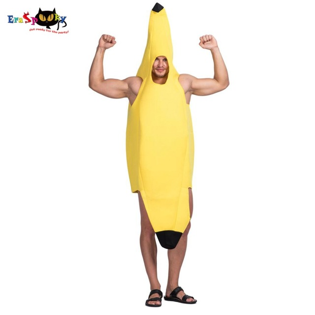 Homens Amarelo Banana Fruit Trajes do Vestido Extravagante Traje Festa de  Carnaval Adulto Masculino Unisex Macacões 90f7ffc05ad
