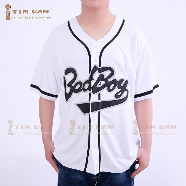 TIM VAN STEENBERGE Biggie Smalls Bad Boy Baseball Jersey  10 Movie Stitched  Sewn-White 86c7e1e15