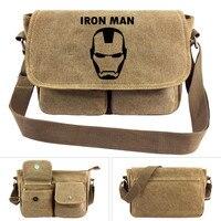 anime Iron Flash Thor Man Hero Cross body Bag Men Women Boys Girls Messenger Bags Canvas Shoulder Bag Teenagers Package