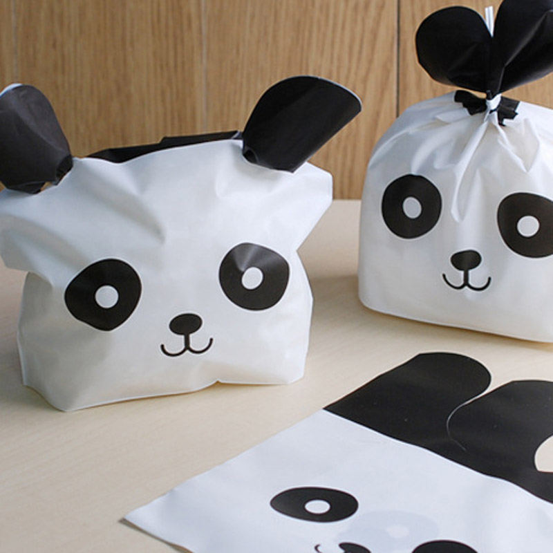 15X18X6CM Cute Panda Cookies Bag Rabbit Ear Cat Face Candy Package, Wedding Favors, Baptism Baby Shower Candy Box, Wedding Decor