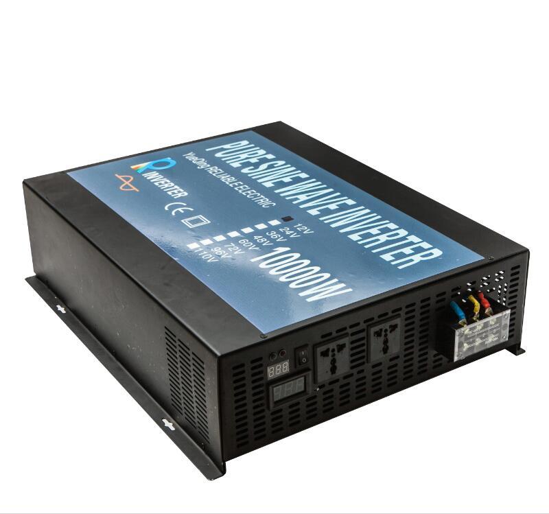 Full Power 10000W 12V/24V/48V 120V/220V/240V DC AC Voltage Converter Transformer LED Display Pure Sine Wave Solar Power Inverter upo 10000 240 e